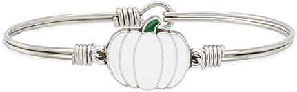 Luca + Danni | Fall White Pumpkin Bangle Bracelet For Women Made
