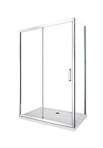 Cabina de ducha con pared lateral fija y puerta corredera (65-67,5 fija x 95-100 corredera)