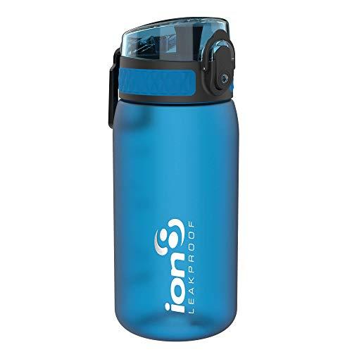 Ion8 Gourde Enfant Étanche, sans BPA, Bleu