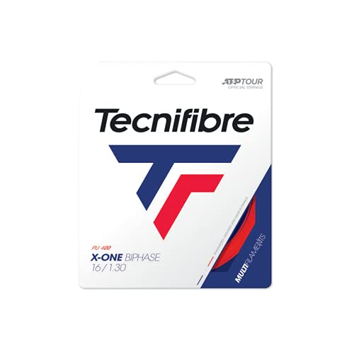 Tecnifibre X-One Biphase 12M Rot Tennis String Set Multifil Red 1,30