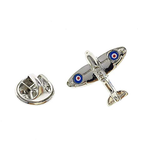 Cuff-Arts Lapel Pin Badges Mini Airplane Spitfire Aeroplane Pin Brooch Buttons Pins with a Gift Box P10119