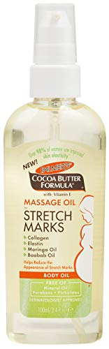 Palmer's Cocoa Butter Formula Massage Oil for Stretch Marks & Pregnancy Skincare | 3.4 Ounces
