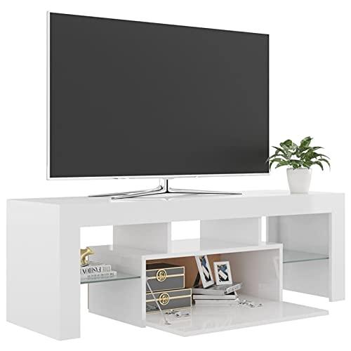 Fest-night Mueble TV Salon Mesa para TV Mueble Television con Luces LED...