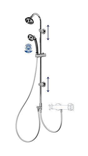 BUBBLE-RAIN Duschsystem mit BUBBLE-RAIN espresso uno Handbrause und BUBBLE-RAIN XL Kopfbrause