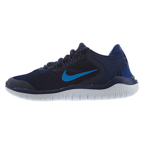 Nike Boy's Free RN 2018 Running Shoe Blue Void/Photo Blue/Indigo Force Size 4.5 M US