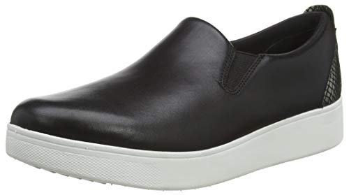 Fitflop Sania Skate-Exotic Back Tab, Zapatos Mujer, Negro (All Black Mix), 39...