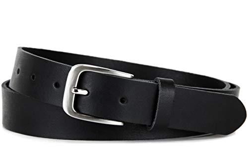 Frentree Ledergürtel MADE IN GERMANY, Gürtel für Damen und Herren, 3 cm breit, Schwarz
