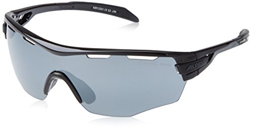 Alpina Sonnenbrille Amition TRI-SCRAY SHIELD Sportbrille, Black, One Size