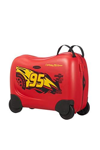 Samsonite Dream Rider - Valigia per Bambini, 51 cm, 28 l, Rosso (Cars 3 Wheels)