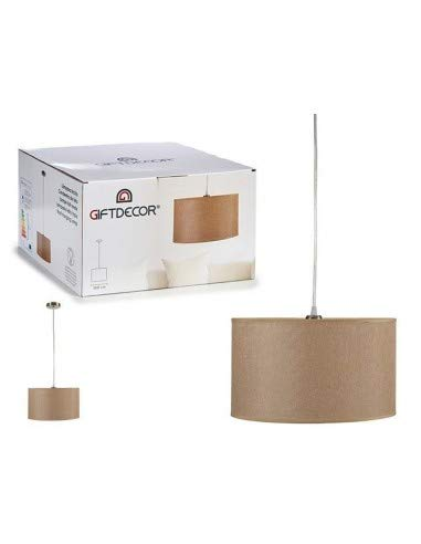 TU TENDENCIA ÚNICA Lámpara de Techo Colgante. Pantalla de Tela [Clase de Eficiencia Energética A++] Bombilla E27 (Beige)