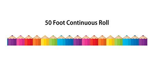 Colored Pencils Die-Cut Rolled Border Trim Photo #4