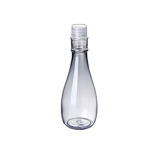 Botellas Cosméticas Viajes Calabaza de botella transparente brillante botella de tóner cubierta plástica cosmética recargable botellas de 150ml (Color : 1)