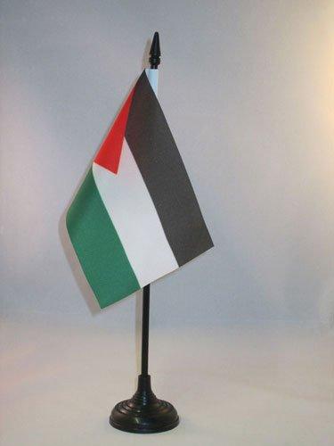 AZ FLAG TISCHFLAGGE JORDANIEN 15x10cm - JORDANISCHE TISCHFAHNE 10 x 15 cm - flaggen