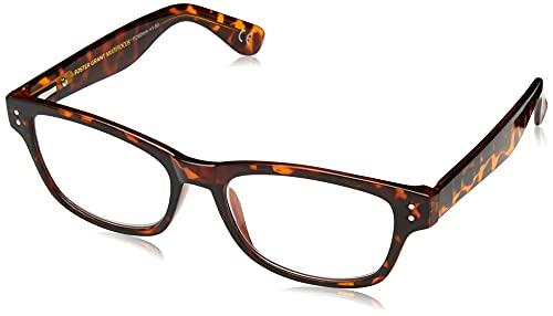 Foster Grant Conan Multifocus Rectangular Reading Glasses, Tortoise/Transparent, 54 mm + 2