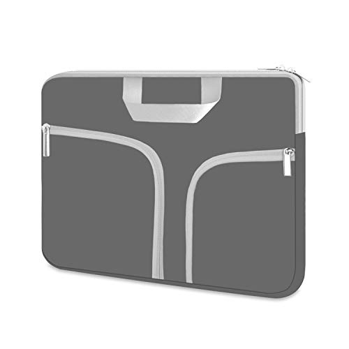 HESTECH Chromebook Case,11.6-12.3 Laptop Sleeve Neoprene Computer Bag Handle Protective Cover for Acer R11/Spin 311/HP Stream/Samsung/Surface Pro X/7/6/5/4/3/Go 12.4'/13 inch MacBook Air/Pro M1,Gray