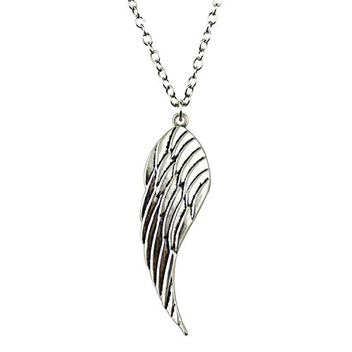 VAWAA 1 Piece Antique Silver Color 52x15mm Wing Pendant Necklace for Women 2019 Fashion Jewelry Gift Dropshipping