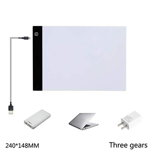 Preisvergleich Produktbild Tomasa Ultra Portable LED Kopierstation Malerei Board Art Tools für künstlerische Animation,  die Architektur-Kalligraphie zeichnet (240 x 148mm Dritter Gang dimmbar)