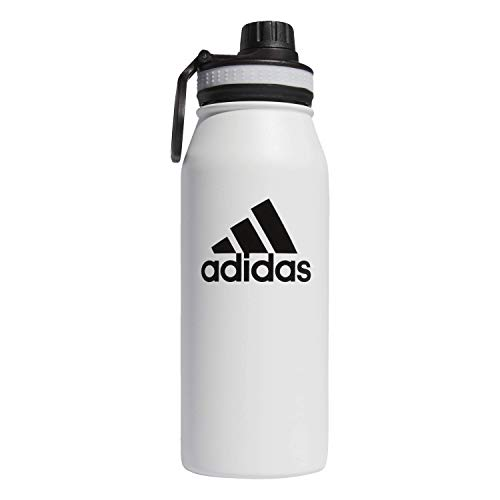 adidas 18/8 Stainless Steel 1 Liter Hot/Cold Insulated Metal Bottle (32oz) Botella, Unisex