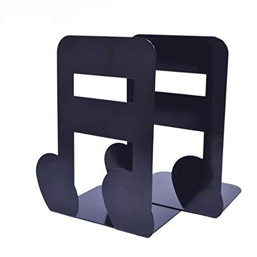 Bookends Bookends Musical Note Metal Bookends decoratieve plank boekenstandaard creatieve kantoorbenodigdheden 2 stuks boekstandaard
