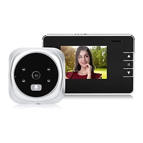 BAOZUPO Timbre electrónico Digital de 2,8 Pulgadas, Timbre de vídeo de 125 Grados, Mirilla electrónica, cámara de Puerta, Visor de Seguridad para el hogar, Campana Exterior