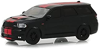 Greenlight 13230-F Muscle Series 21-2018 Dodge Durango SRT - Diamond Black with Red Stripes 1:64 Scale
