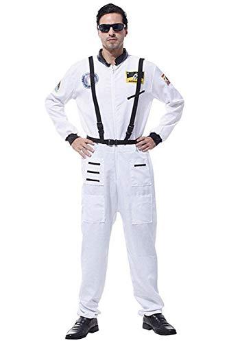 Astronaut Ruimtepak Zilver Volwassene Kinderen Astronaut Ruimte Jumpsuit Astronaut Rol Speel Kostuum