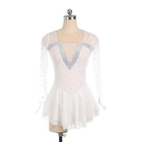 GXLO Gymnastique Manches Longues Danse Ballet de Ballet Gymnastique Justaucorps pour Filles 5-12 Ans Couleur Gradient Gradient Design Scintillant,XXS