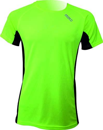 Camiseta Deportiva Manga Corta EKEKO Marathon, Camiseta Hombre Fabricada en Poliester microperforado, Running, Fitness y Deportes en General. (XL, Amarilla)