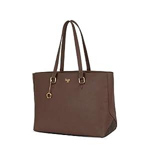 Baggit Spring-Summer 2021 Faux Leather Women's Tote Handbag (Brown) (Tiler)