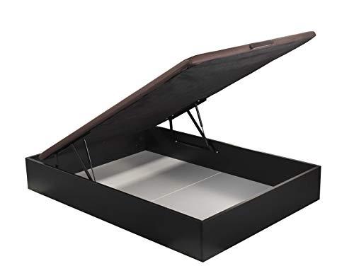 ROYAL SLEEP Canapé Abatible (150x190) de Gran Capacidad, Tapa 3D Transpirable, Color wengué Montaje y Retirada de Usado Incluido