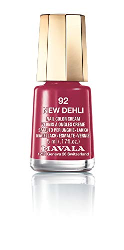 Mavala Mini Colors Pintauñas | Esmalte de Uñas | Laca de Uñas | 47 Colores Diferentes, Color New Delhi 92 (Rojo), 5 ml