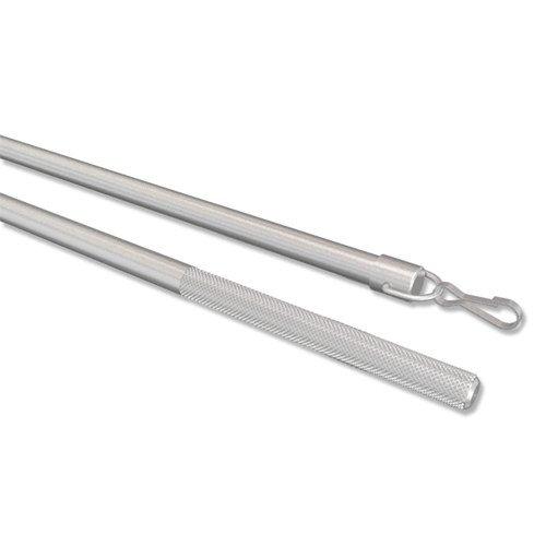 INTERDECO Schleuderstab in Silber-Grau aus Aluminium für Gardinen/Schiebevorhänge, Simply, 75 cm