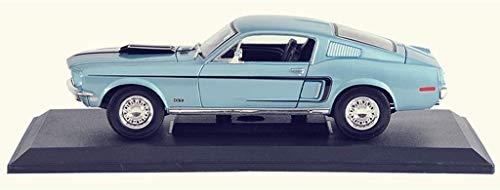 Modelo de coche original el regalo del muchacho 01:18 Ford Mustang GT modelo clásico de la decoración del coche de la simulación de aleación modelo de coche / niña (Color: Azul) ZGHE ( Color : Blue )