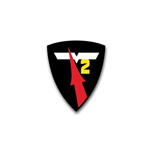 Copytec Aufkleber/Sticker - Flugkörpergeschwader 2 FKG Luftwaffe Geschwader Rakete Bundeswehr Wappen Abzeichen Emblem passend für VW Golf Audi A4 Mercedes Benz (7x6cm)#A1296