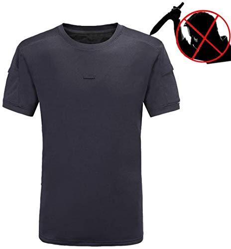 Tactical T-Shirt-Weste, Versteckte Stichschutzweste, Faserplatten Schutzkleidung Für Sicherheitspersonal Treffen EN388 CE-Zertifizierung,L