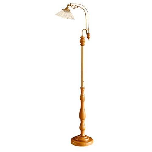 MYBA Lámpara de pie LED con pantalla de cristal y baldosas, base de la lámpara E27, moderna de pie, lámpara de dormitorio, salón, oficina o pie (color: A)