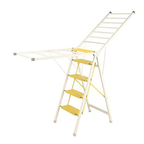 Paso taburete Taburete, espiga de escalera Inicio Escalera Escalera taburete plegable de múltiples funciones escalera fecal en casa subida de escaleras Tendedero Cuatro Escalera plegable 2 color opcio