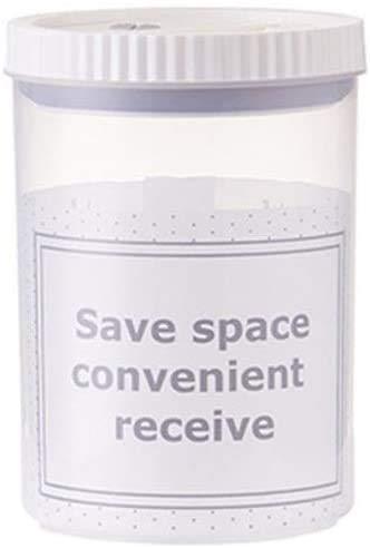 Gläser Glas zum Einmachen runder durchsichtiger Vorratsbehälter Gläser Kunststoff-Lebensmittelboxen Behälter Schraubverschluss (Größe: 0,3 l)