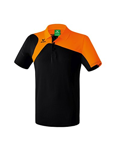 Erima GmbH Club 1900 2.0 Polo de Tenis, Unisex niños, Negro/Naranja, 152