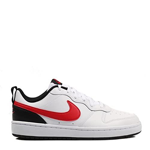 Nike Court Borough Low 2 (GS), Scarpe da Ginnastica, 110 White University Red Black, 39 EU