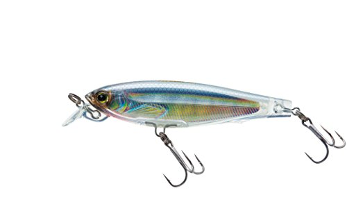 Yo-Zuri F1135 HGSH 3DS Minnow Suspending Lure, 2-3/4-Inch, Holographic Ghost Shad