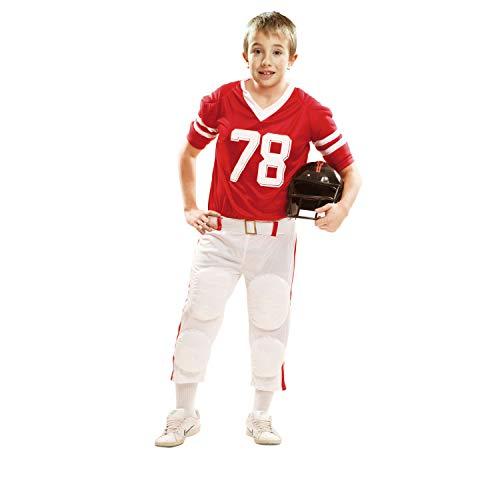 Desconocido My Other Me-202113 Disfraz de jugador de rugby para niño, color rojo, 10-12 años (Viving Costumes 202113)