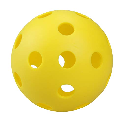 Mingna Yellow Pickleball Balls, Indoor or Outdoor 70mm Poly Hollow Balls for Sport Practice or Play(12pcs/Pack)