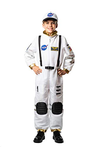 Bad Bear Brand Kids Astronaut Commander Costume for Boys and Girls Gold