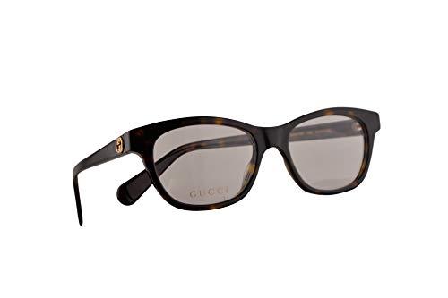 Gucci GG0372O Brillen 51-17-140 Havana Braun Mit Demonstrationsgläsern 002 GG 0372O