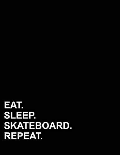 Eat Sleep Skateboard Repeat: Polar Graph Paper Notebook - 1/4 Inch Centered Technical Sketchbook