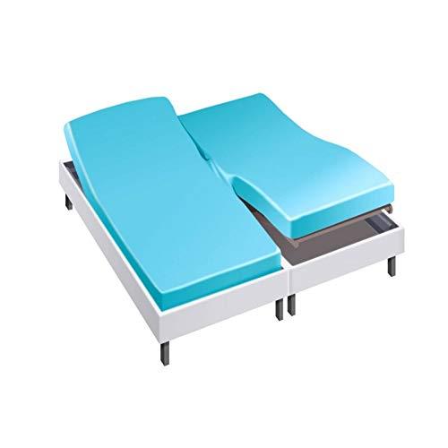 Drap House pour lit articulé 2x90x200 en Percale Turquoise - Couleur: Turquoise