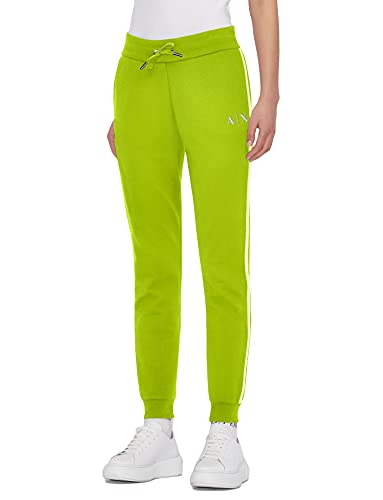 Armani Exchange Sporty Sweatpants Pantalón Deporte, Acid Lime, S para Mujer