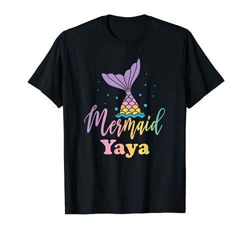 Mermaid Yaya Funny Birthday Girl Princess Party Matching T-Shirt