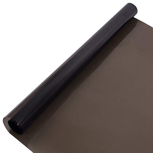 XKSO-QPTY Película para Ventanas 4mil/0.1mm 35% VLT Negro la Ventana de Coche de Cine Nano cerámica Tinte Solar película de Seguridad Rompe Cristal de tintes Resistentes 1.52mx10m Sombreado
